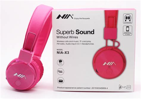Headphone Nia 4 in 1 bluetooth stereo headset model nia x3 the in
