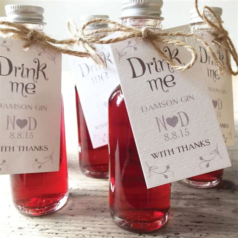 Wedding Favors Bottles by Drink Me Wedding Favour Labels X 20