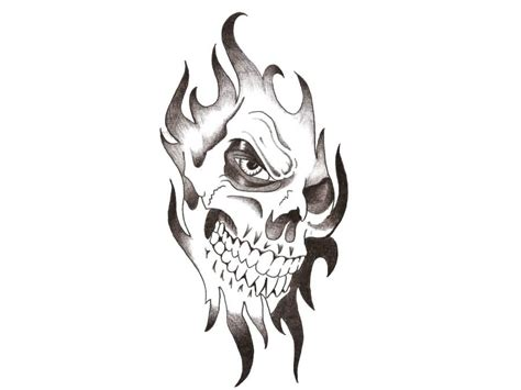 tribal and skull tattoo designs tribal skull design