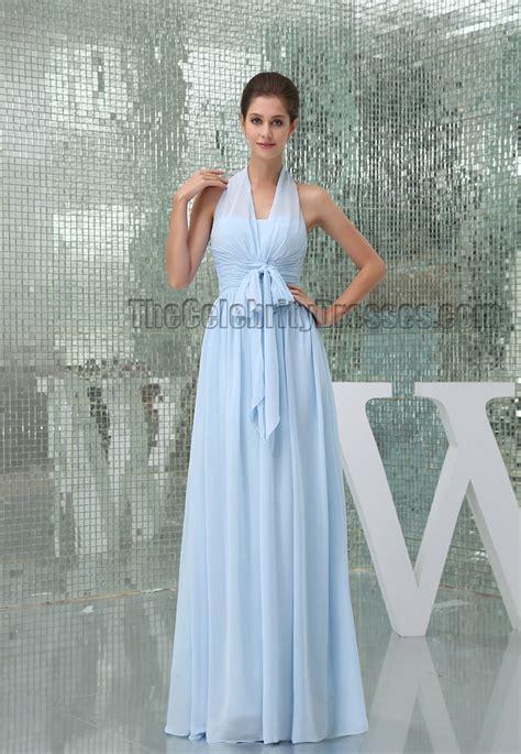 light blue floor length dress light sky blue halter floor length prom gown evening dress