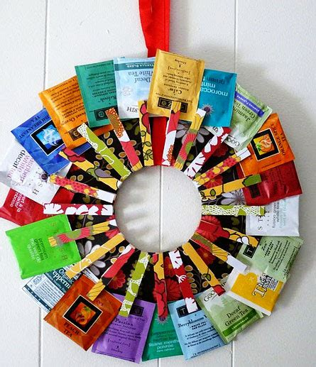 teabag wreath what a cute idea for the kitchen for the