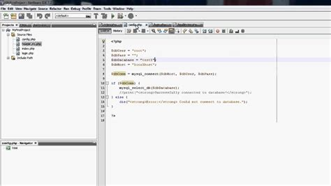 php tutorial using netbeans netbeans php tutorial how to make a login system 8