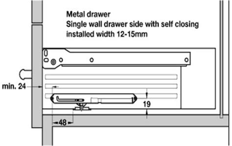 Soft Drawer Mechanism by Soft Closing Der For Metal Drawer Sides Architectural