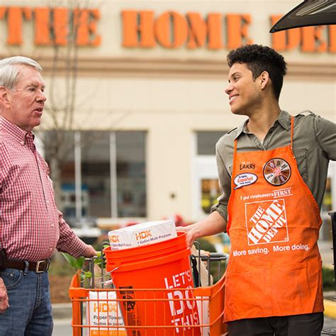 approaches home depot employee like a well versed