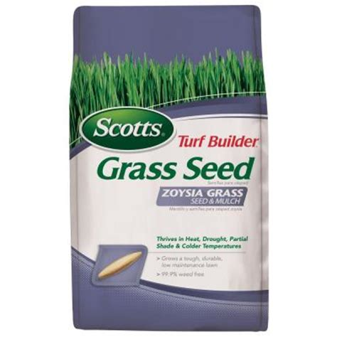 scotts turf builder 5 lb zoysia grass seed and mulch