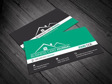real estate business card design templates ropgraphicdesign licensed for non commercial use only