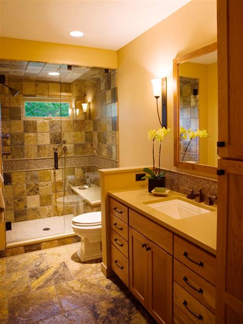 full tile bathroom narrow bathroom layouts hgtv