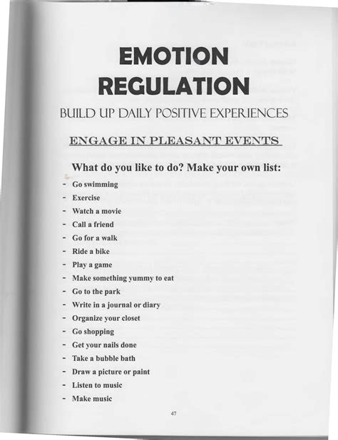 Emotional Regulation Worksheets by The Of Dialectical Behavior Therapy Emotion Regulation