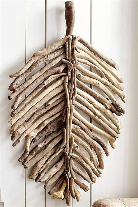 Gartendeko Holz Blatt by 100 Ideen F 252 R Faszinierende Deko Aus Holz