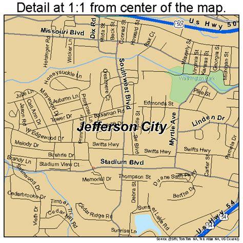 map of jefferson jefferson city missouri map 2937000