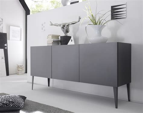 Livia   grey or white matt lacquered sideboard