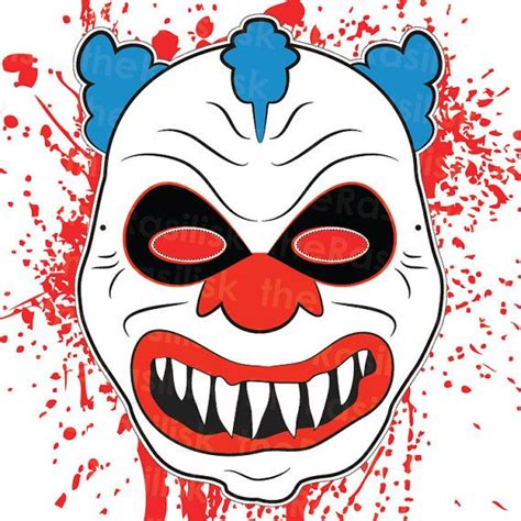 clown mask template scary clown mask mask clown mask printable