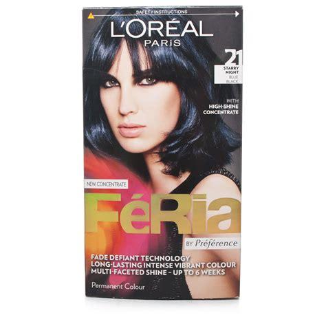 Loreal Feria l oreal feria hair colour 21 starry blue black