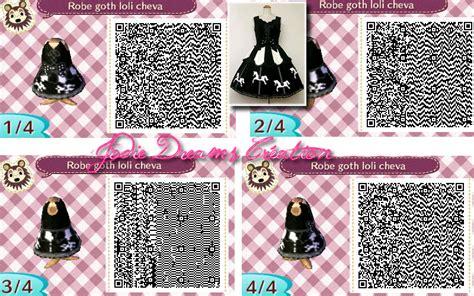 acnl qr code hair robe goth loli cheva design animal crossing qr codes