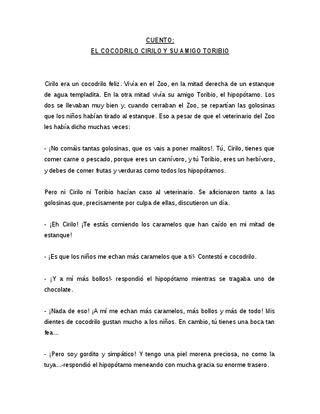cirilo el cocodrilo cirilo cuentosobrelosalimentos by maria p 233 rez issuu