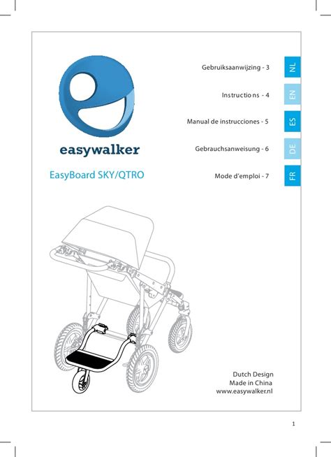 one user manual easywalker easyboard user manual general