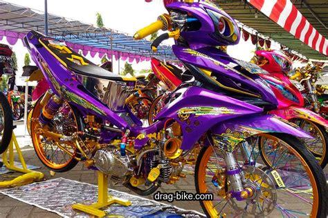 Engkol Slah Jupiter Z 40 foto gambar modifikasi jupiter z kontes racing look jari jari drag bike