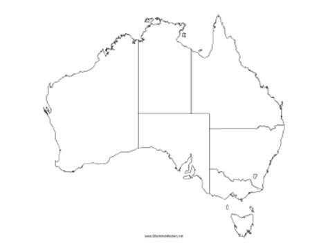 america map blackline master blackline map of australia