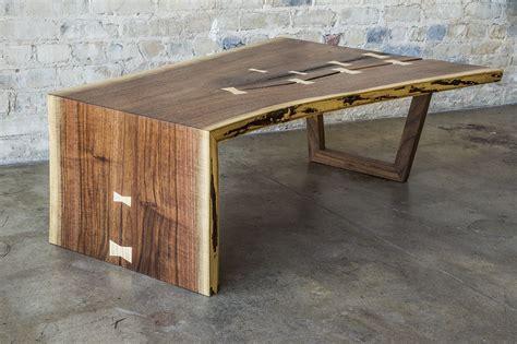 edge waterfall coffee table  edge table wood