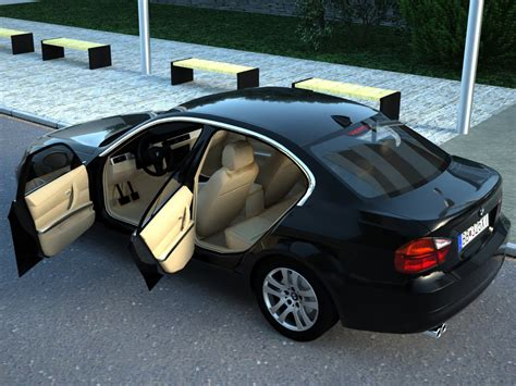 bmw model 2007 bmw 3 series 2007 3d model sedan german 3ds max fbx c4d