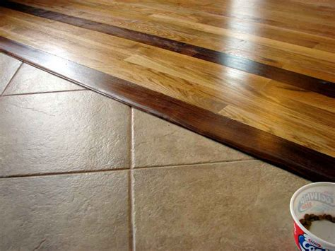 how do you handle transition from hardwood to cut tile with no moulding flooring contractor talk