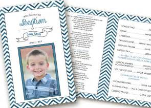 printable folding baptism program lds boy by