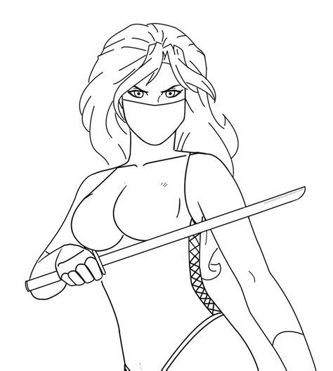 girl ninja coloring page ninja girl by bloodtalonhero on deviantart