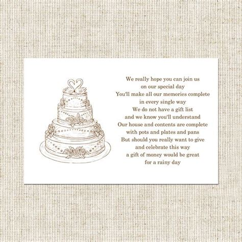 Gift Card Bridal Shower Poem - 57 best images about wedding shower ideas on pinterest wedding ceremony signs