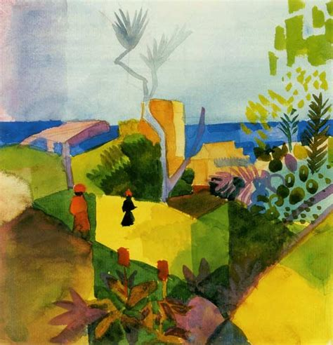 Barriere Jardin 1887 by August Macke En Reproductions Imprim 233 Es Ou Peintes Sur