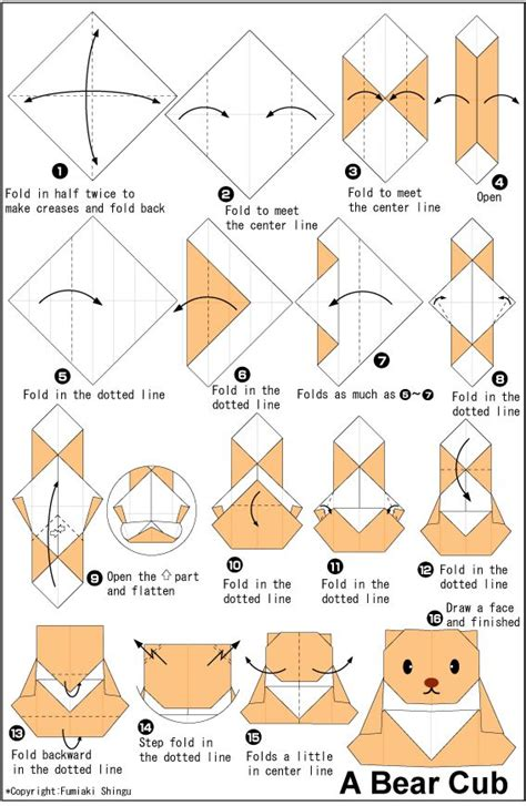 Origami Bears - origami cub easy origami for