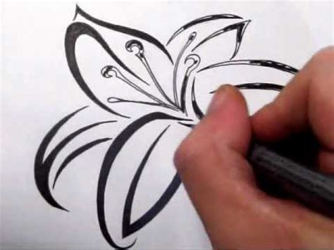 lily tribal tattoo designs tattoos drawing a cool tribal design