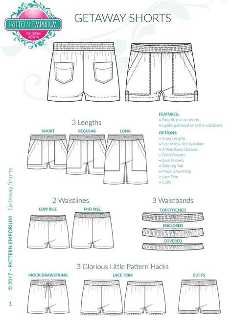 pattern emporium discount code ladies getaway pull on shorts sewing pattern pattern