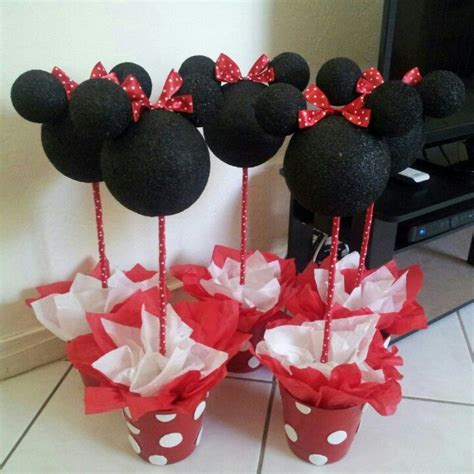 Handmade Minnie Mouse Decorations - diy minnie mouse centerpieces minnie s