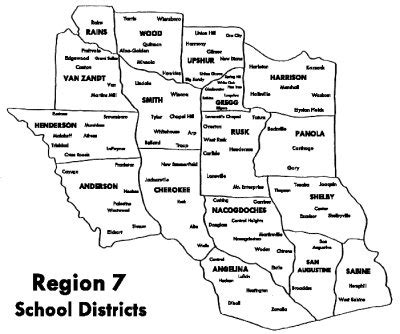 texas school district map by region east texas association for pupil transportation