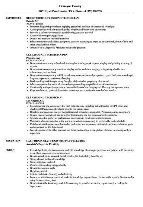 ultrasound resume exles charming ultrasound technician resume gallery resume