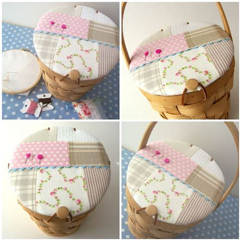Patchwork Basket - how to make a patchwork sewing basket make