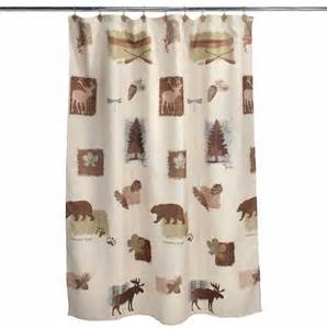 moose cabin deer bathroom collection shower curtain