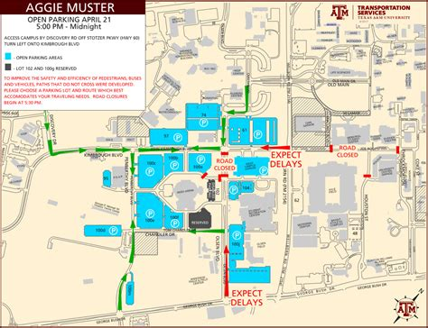 texas a and m cus map texas a m parking map laminatoff