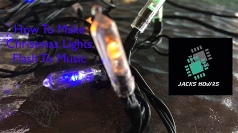 how to make christmas lights flash to music youtube
