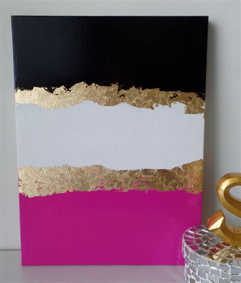 pink and black home decor kate spade decoration inspired acrylic canvas