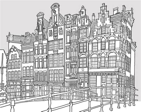 coloring pages for adults buildings fantastic cities is an architecture themed coloring book