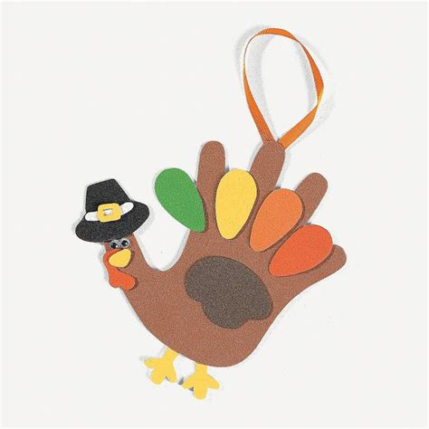 handprint turkey crafts for handprint turkey craft kit orientaltrading