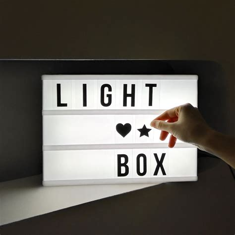 light up cinema box a4 led light up letter box cinematic wedding home party