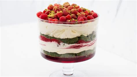 how to make guillaume brahimi s raspberry and pistachio trifle