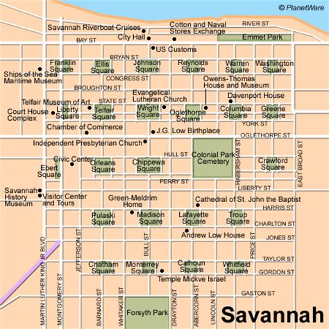 savanah map 11 top tourist attractions in planetware