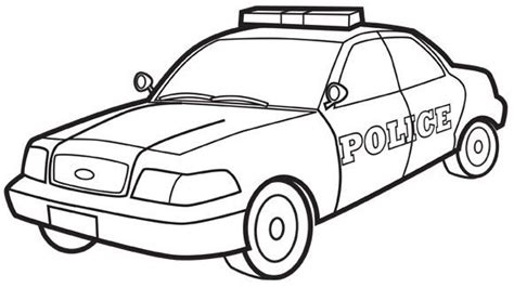 coloring pages cop cars police car colouring page printables pinterest cars