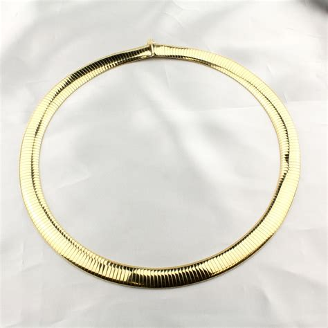 Choker Gold Ring Omega Choker pre owned gold omega necklace