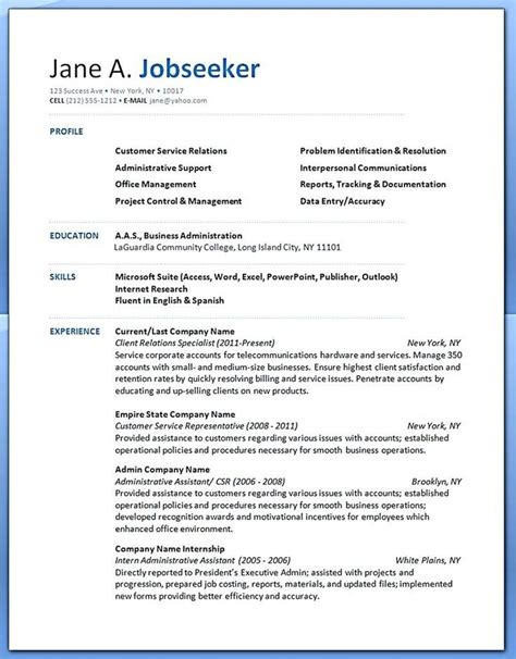 Resume Exles by Professional Background Resume Exles 28 Images