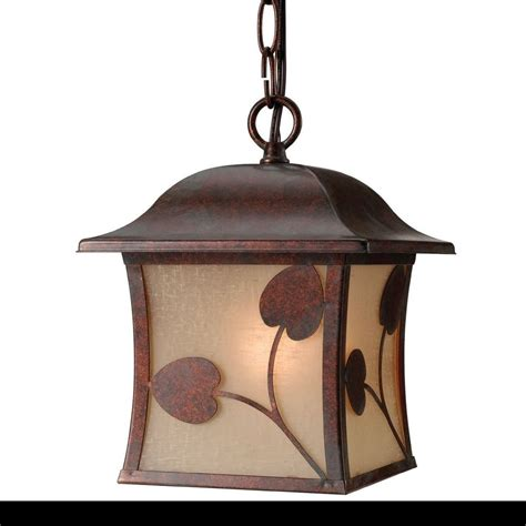 Outside Light Fixtures Outdoor Ceiling Lighting Fixture Single 1 Light Bronze Hanging Exterior Porch Ebay
