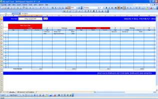 Excel Spreadsheet For Bills Template by Bill Payment Calendar Excel Templates